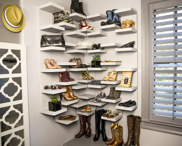 How To Make Shoe Storage Display Shelves Diy Shelves Bedroom