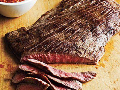 Flank Steak with Romesco Sauce #recipesforflanksteak