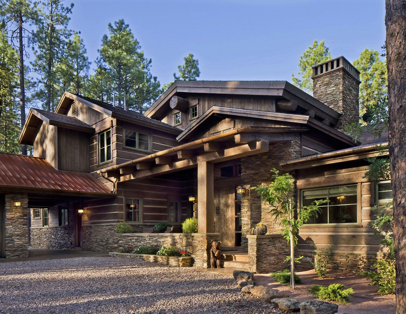 Modern Style Log Home Home Interior Contemporary Mountain Home Plans Dream And Realize It Rustic House Plans Wooden House Design Rustic Houses Exterior