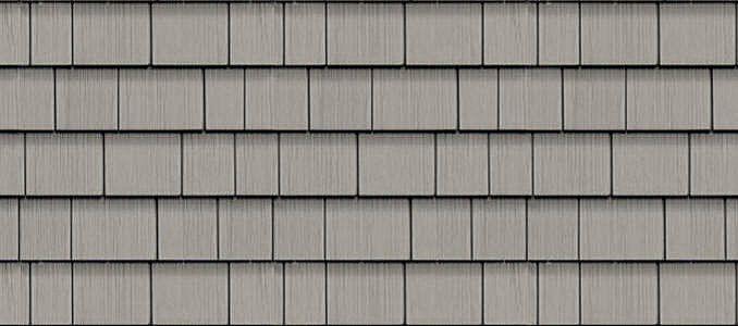 Granite Gray Cedar Impressions 174 Double 7 Quot Straight Edge