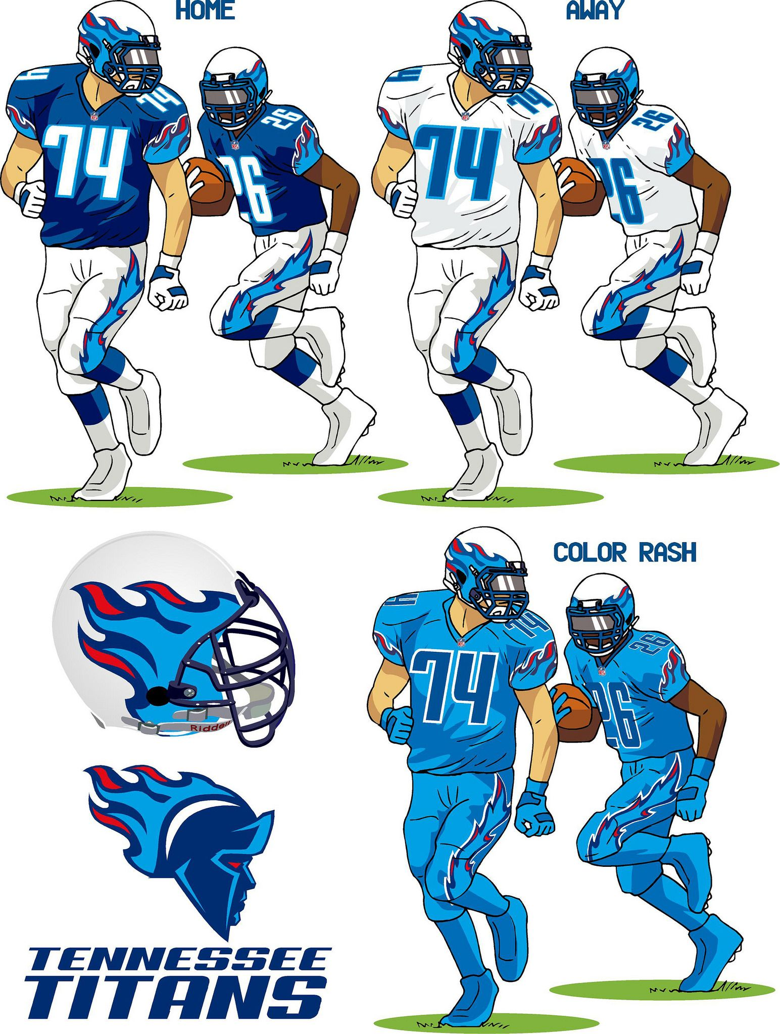 Who won our Titans redesign contest? Titans football