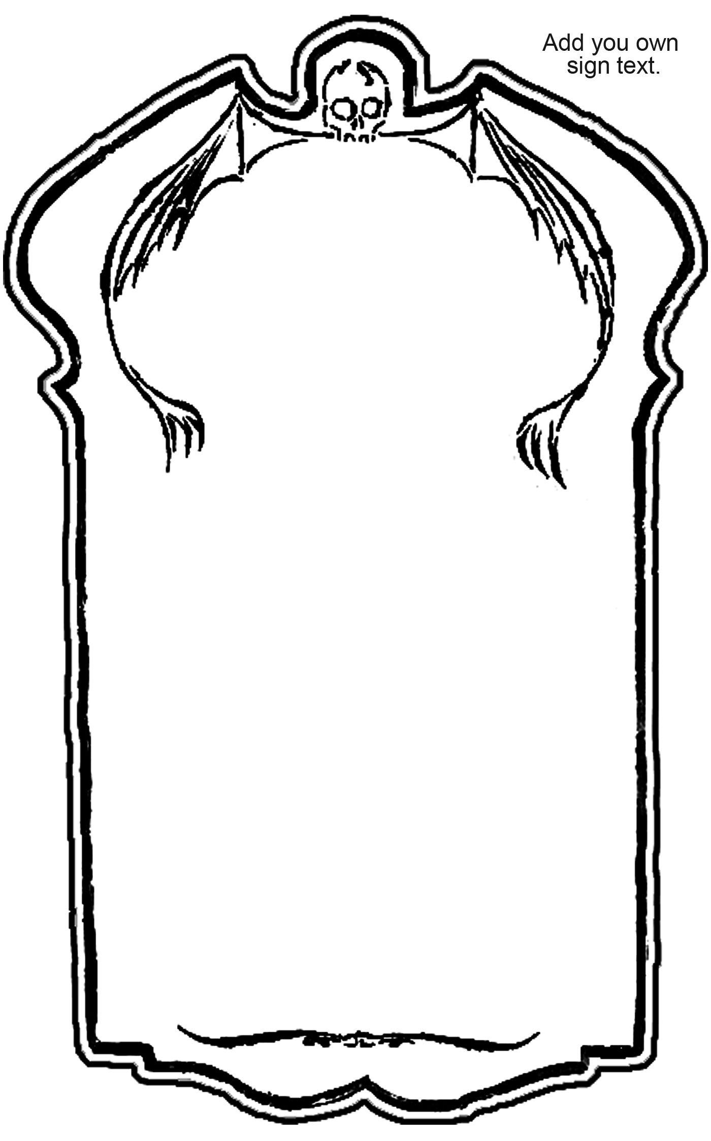 Cemetery Sign Pattern Cq Halloween Pumpkin Jackolantern