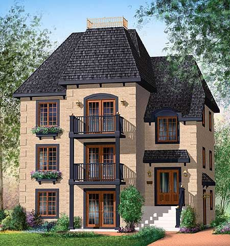Plan 80585pm In 2021 Family House Plans Narrow Lot House Plans House Plans