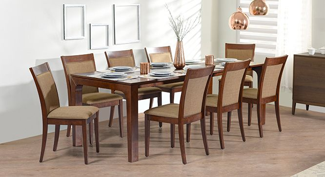 Arco Dalla 8 Seater Dining Table Set Glass Dining Table Set 8
