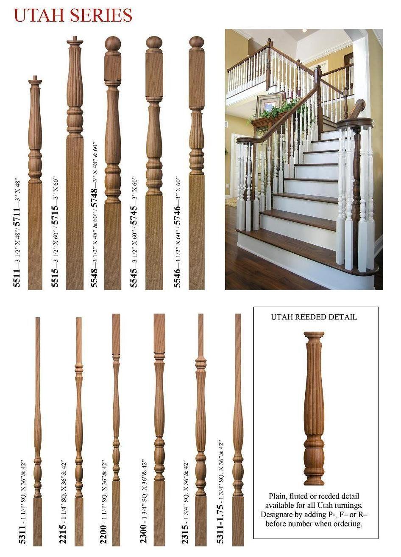 Best Stair Baluster Styles Oak Wood Spindles Utah Series 640 x 480