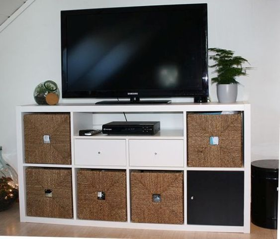 Ikea kallax tv unit with drawers basement remodel pinterest ikea kallax tv units and ikea - Mueble tv hemnes ...