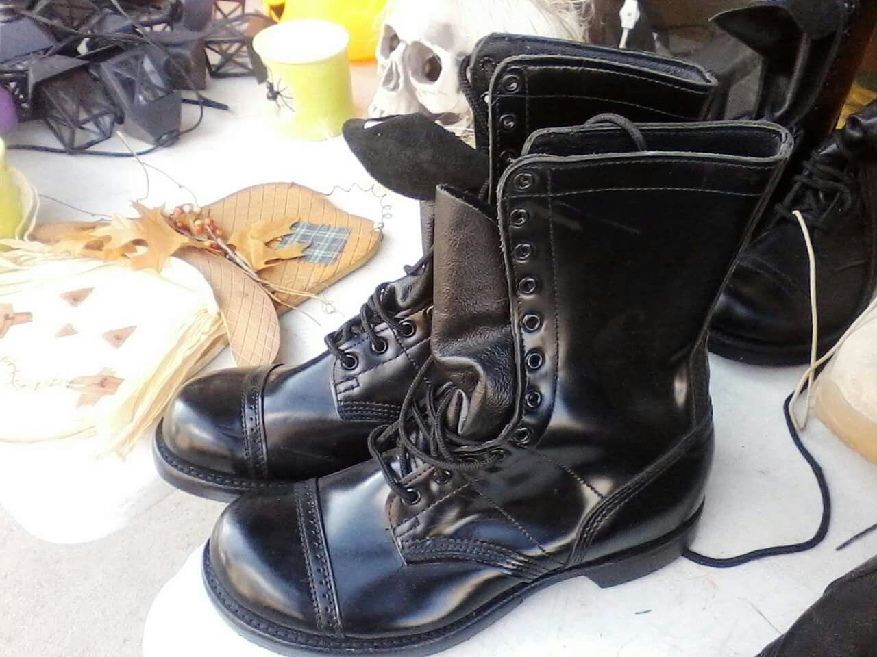 Boots we used to wear for inspections jump boots spit