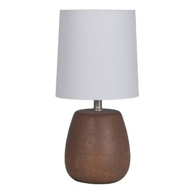 Polyresin Wood Accent Lamp Walnut Threshold In 2020 Accent Lamp Lamp Wood Accents