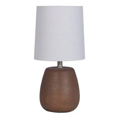 Polyresin Wood Accent Lamp Walnut Threshold Adult Unisex Size