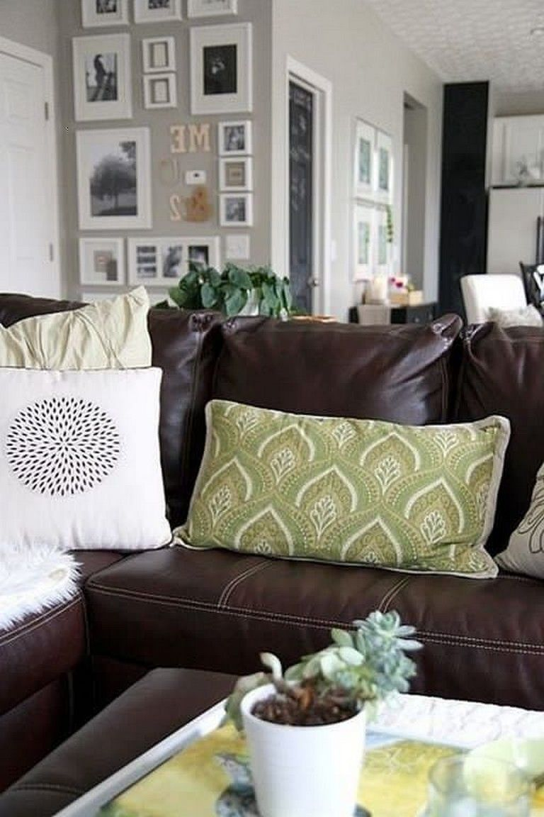 30 inspiring decorative pillows ideas on leather couch