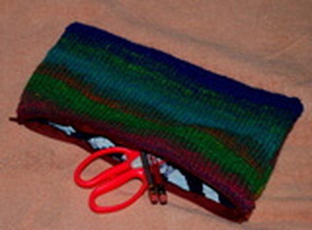 Free Knit Bag And Purse Patterns Knit Pencil Bag Knitting