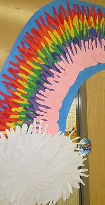 Handprint rainbow!