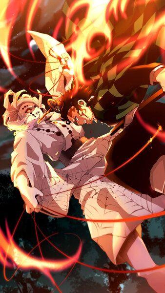 Tanjiro Kamado Vs Rui Kimetsu No Yaiba 4k Hd Mobile Smartphone And Pc Desktop Laptop Wallpaper 3840x2160 1920x1080 2 Anime Demon Slayer Anime Manga Anime