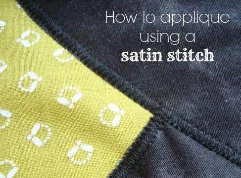 How To Sew A Satin Stitch Sewing Pinterest Sewing Satin Inspiration Satin Stitch On Sewing Machine