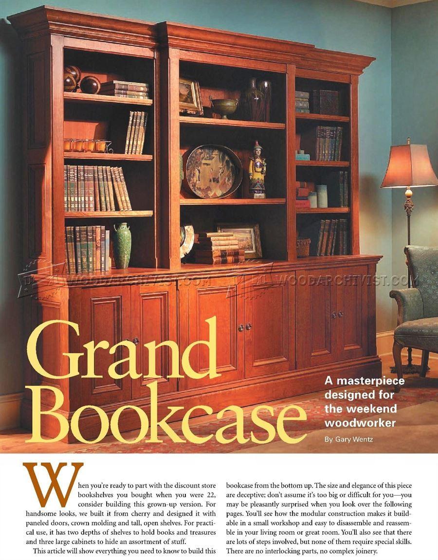 2501 Grand Bookcase Plans Furniture Plans Bookcase Plans Bookcase Bookcase Design