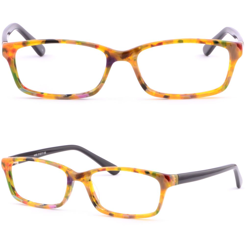 de2d7545f8 Light Weight Plastic Acetate Frame Women s Frames Prescription Eyeglasses  Orange  Unbranded