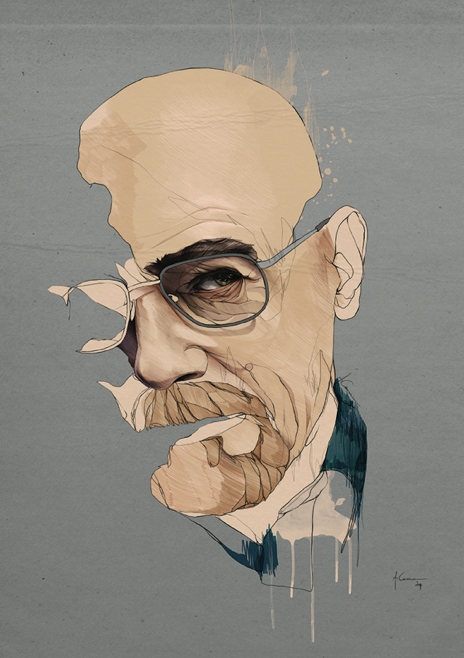 """Walter White"" (Anthony Caseiro). Lámina a la venta en http://oleart.es/show/item/in/anthony-caseiro/walter-white-anthony-caseiro. Fine art print available at http://oleart.es/en/show/item/in/anthony-caseiro-en/walter-white-anthony-caseiro."