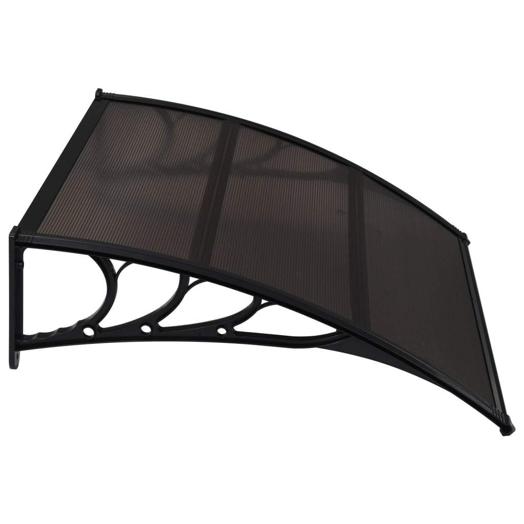 Door Canopy Black 120×100 cm PC