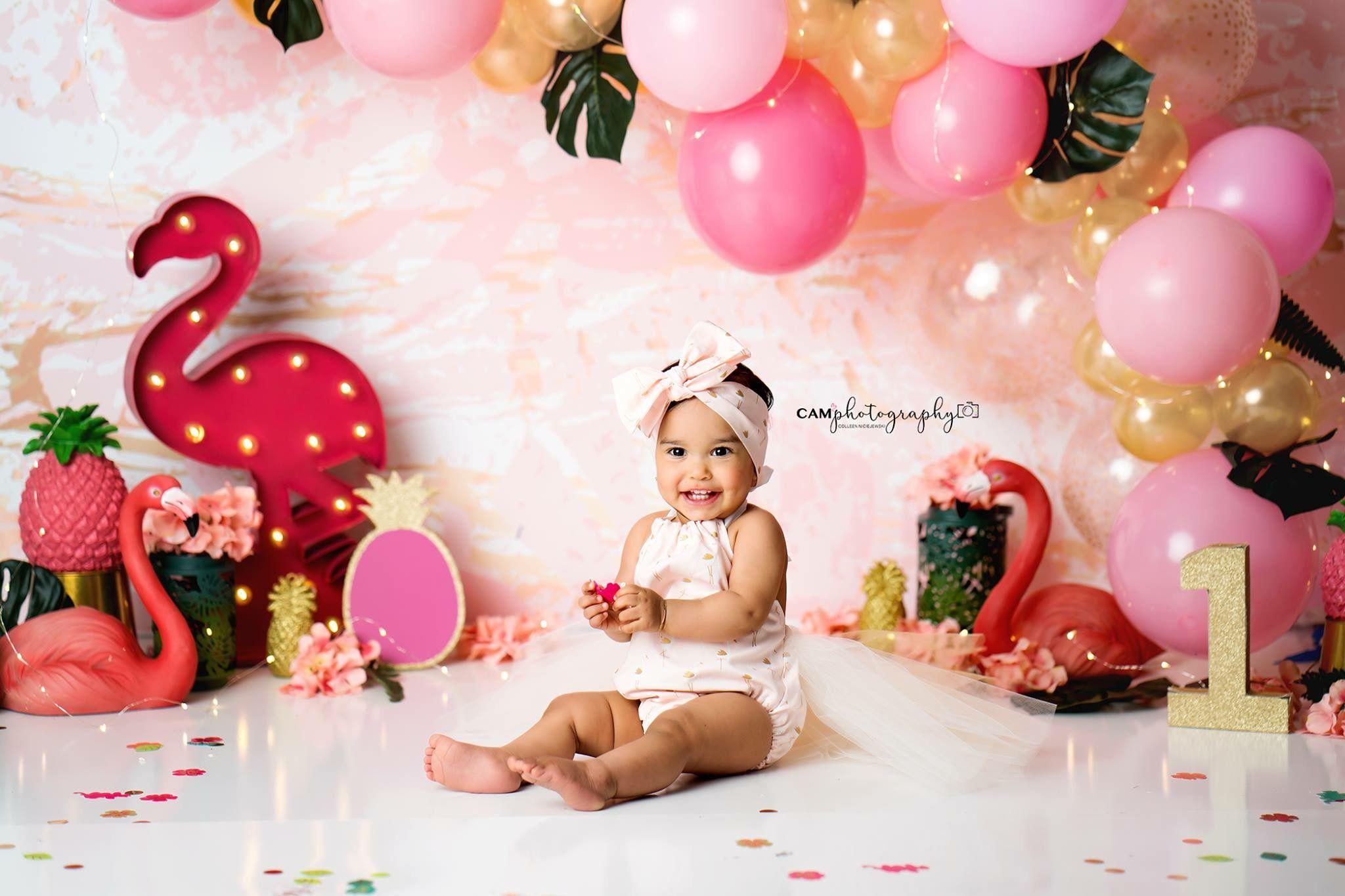Baby Girl First 1st Anniversaire Dusty Rose Tenue tutu Cake Smash Shooting Photo