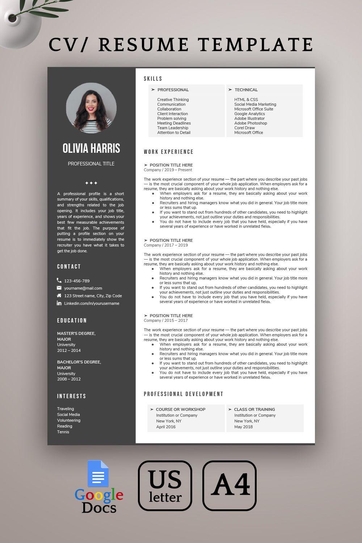 Google Docs Resume Template Creative Resume Template Modern Resume Template Professional Resume Template Cv Template Instant Download In 2021 Creative Resume Templates Resume Template Creative Resume