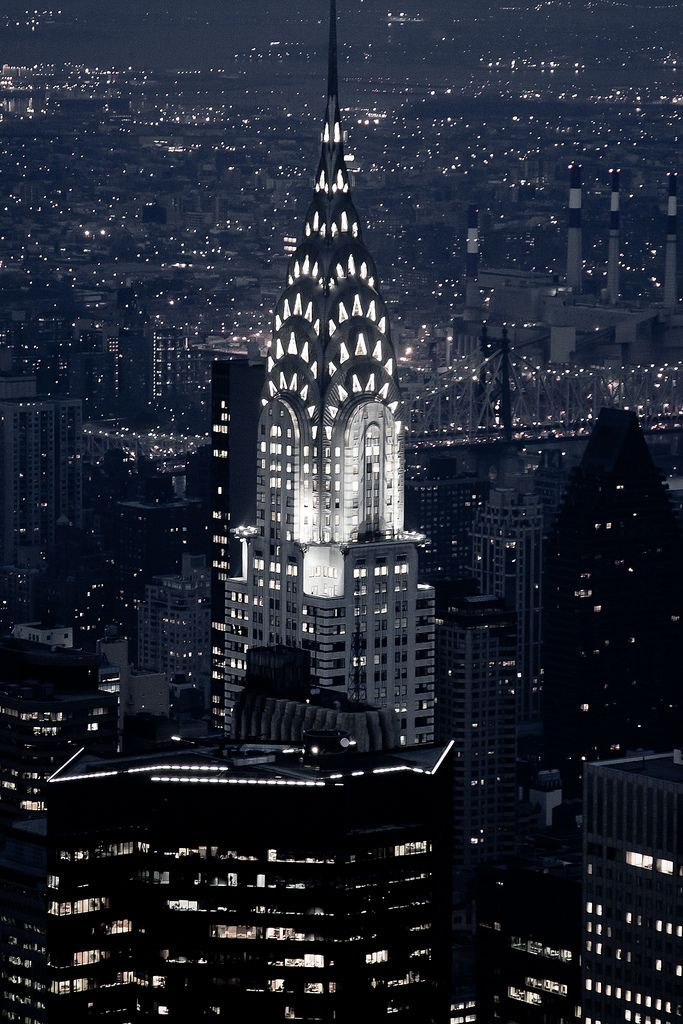 Chrysler Bldg At Night Art Deco Nyc Chrysler Building New