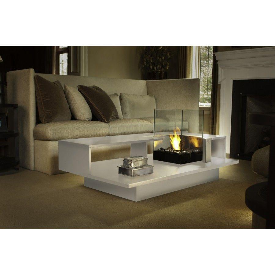 Decorpro Level Indoor Bio Ethanol Coffee Table Fireburner D50201 D50701 D50001 Table Basse Table Basse Salon Foyer Interieur