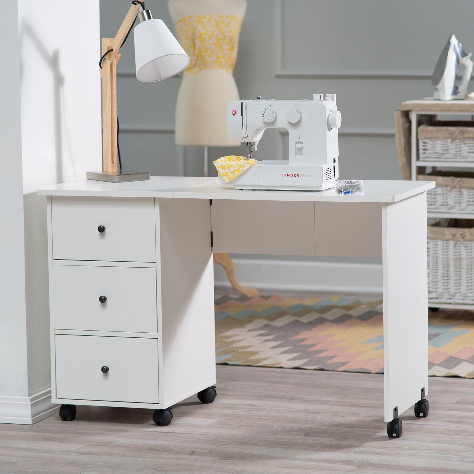 15 Diy Craft Rooms Inspired By Ikea My List Of Lists Find The Best Diy Home Decor Holiday Diy And Online Tutor In 2020 Sewing Desk Sewing Furniture Mobile Sewing