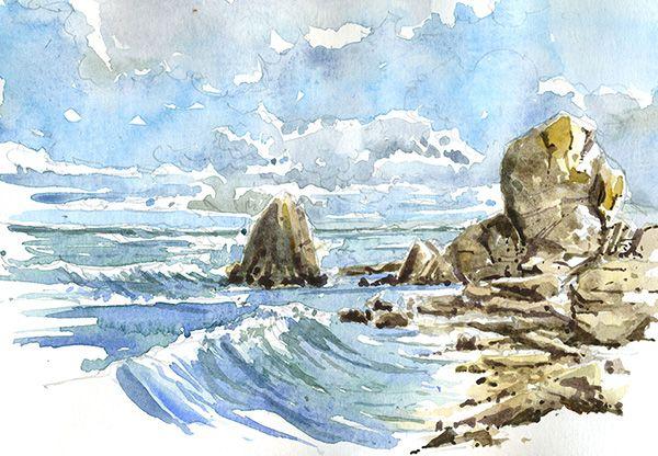Aquarelle Bretagne stage carnet de voyage en bretagne | inspiration dessins | pinterest