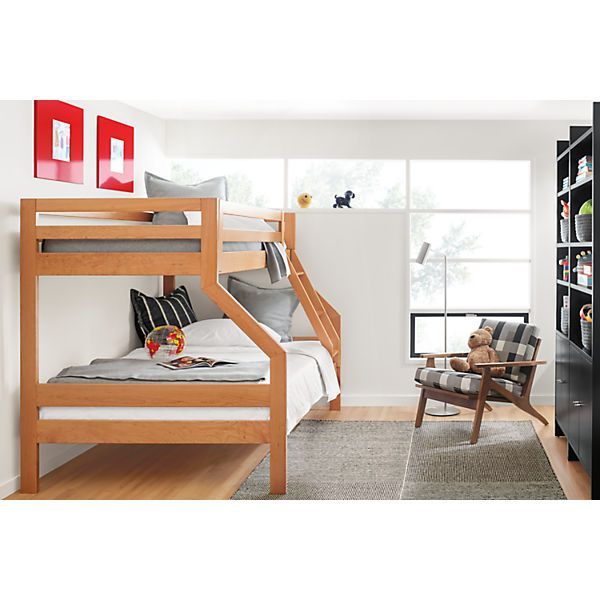 Waverly Kids Wood Bunk Bed Modern Bunk Beds Loft Beds Modern Kids Furniture Kids Bedroom Furniture Modern Kids Furniture Furniture