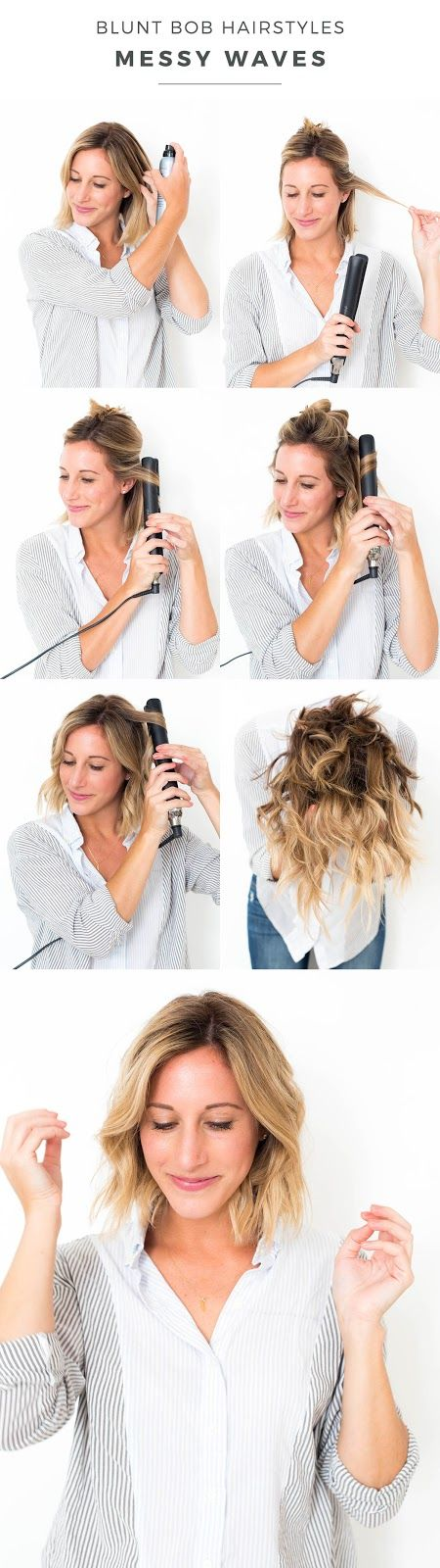 Blunt Bob Hairstyles Messy Waves is part of Blunt Bob Hairstyles Messy Waves Advice From A Twenty - As you may have noticed, I chopped off all my hair  Well, not all of it, but it sure feels like it! As I've been getting used to my new 'do, which always takes some time, I'll adm…