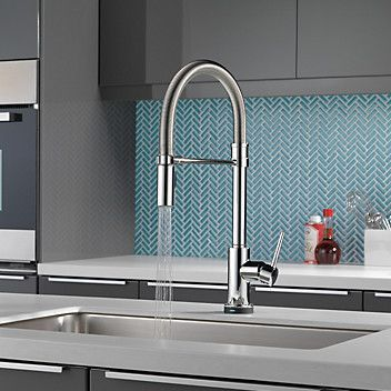 Trinsic Pro Pull Down Touch Single Handle Kitchen Faucet with and ...