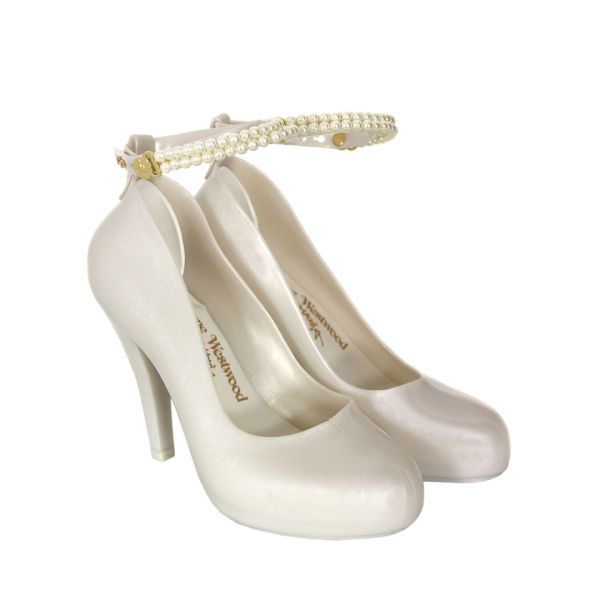 Vivienne Westwood For Melissa Women S Pearl Skyscraper Shoes White Vivienne Westwood Shoes White High Heel Shoes Pearl Shoes