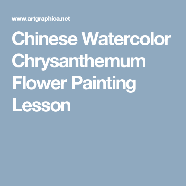 Chinese Watercolor Chrysanthemum Flower Painting Lesson