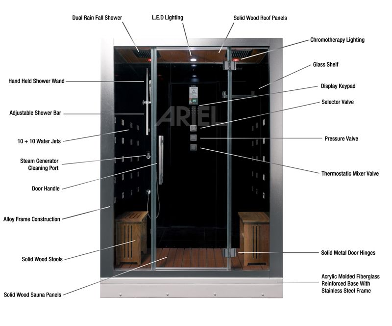 Ariel Platinum Dz972f8 Steam Shower Steam Showers