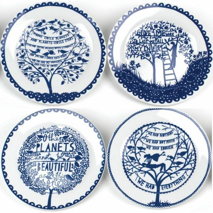 Rob Ryan Wild u0026 Wolf Four Seasons Decorative Plates Set of 4 NIB blue white  sc 1 st  Pinterest & Rob Ryan Wild u0026 Wolf Four Seasons Decorative Plates Set of 4 NIB ...