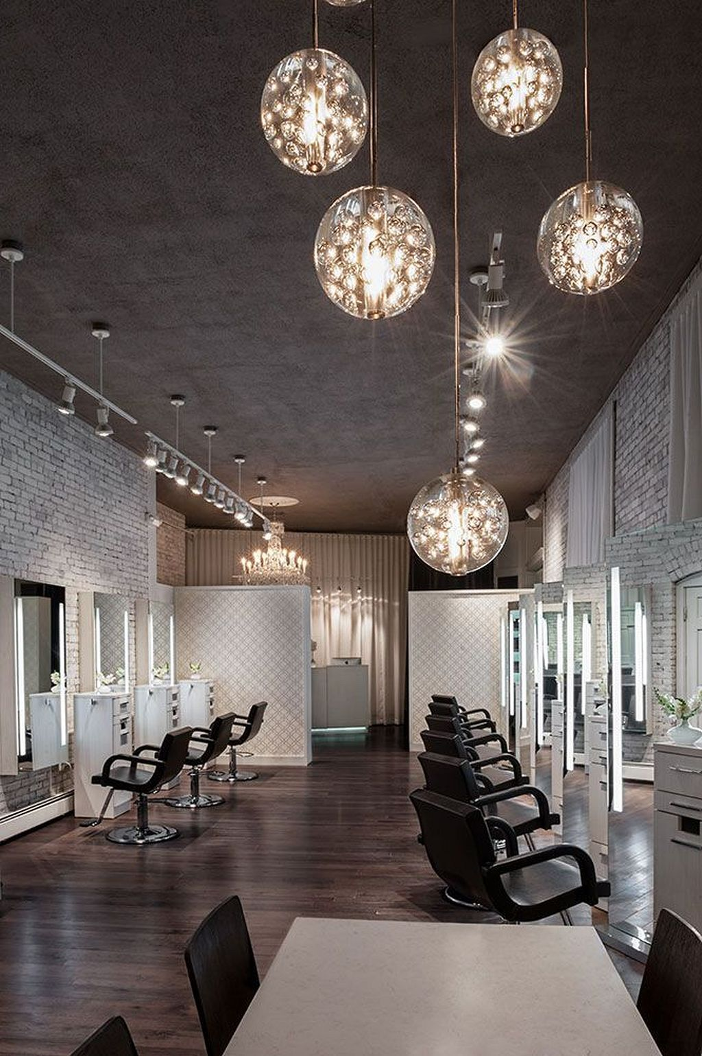 30+ Elegant Statement with a White Brick Wall Salon