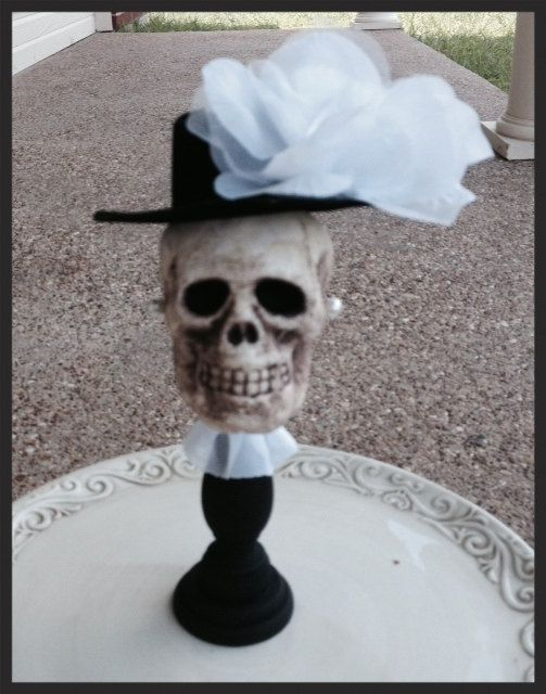 Pretty Skull Halloween Decoration for Halloween party by JeanKnee - skull halloween decorations