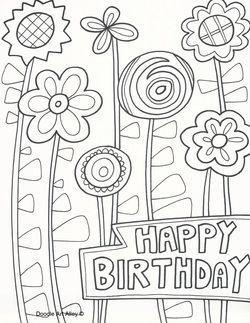 Birthday Celebration Doodles Geburtstag Malvorlagen Kostenlose Ausmalbilder Malvorlagen Blumen