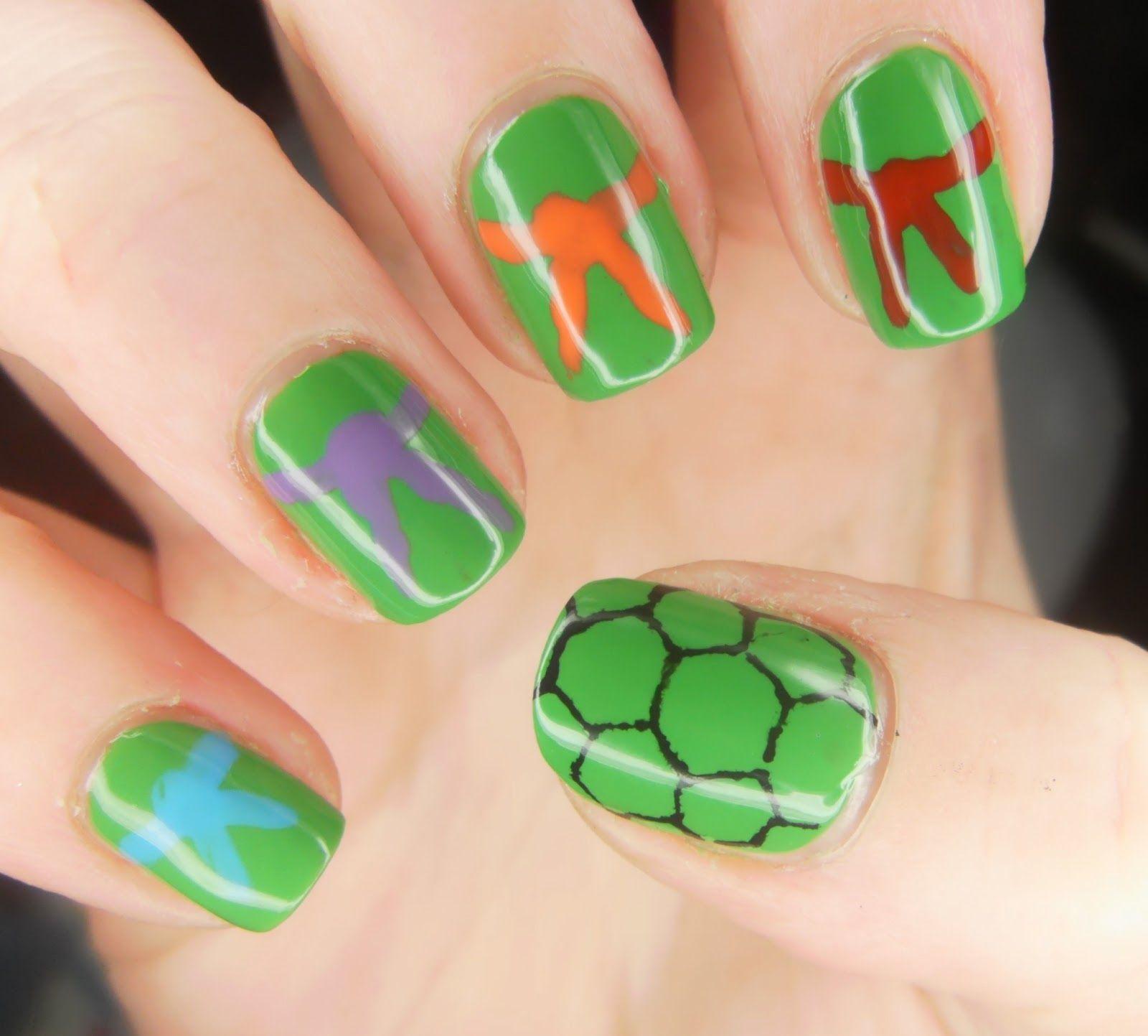 Pin By Maria Hull On Character Nail Art Turtle Nails Ninja Turtle Nails Nails