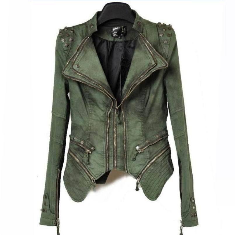 Wiosenna Kurtka Damska Ramoneska Japan Style M3 4220655577 Oficjalne Archiwum Allegro Studded Denim Jacket Vintage Denim Jacket Fashion
