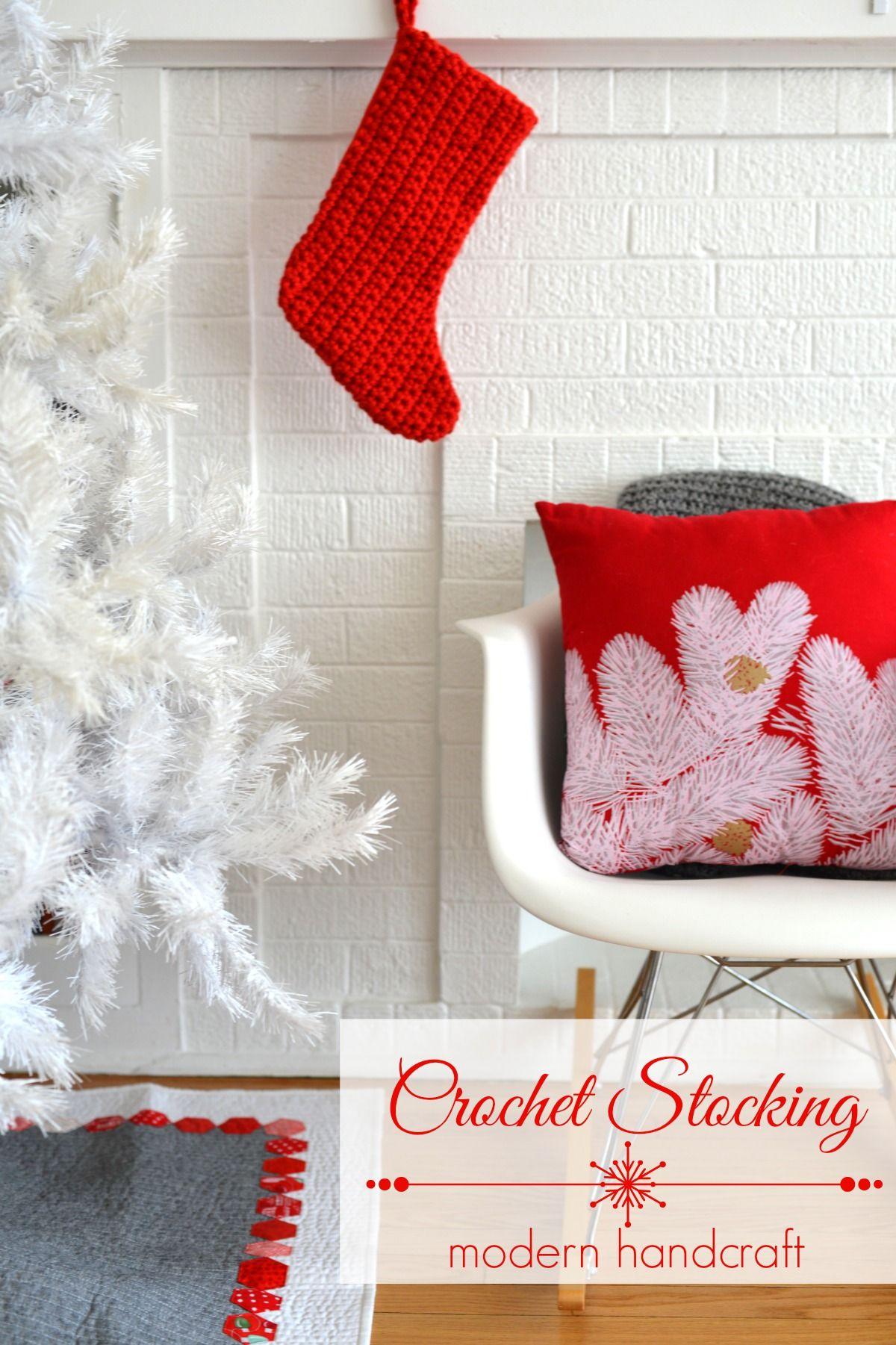 Crochet Christmas Stocking Tutorial | Años nuevos, Navidad y Nuevas