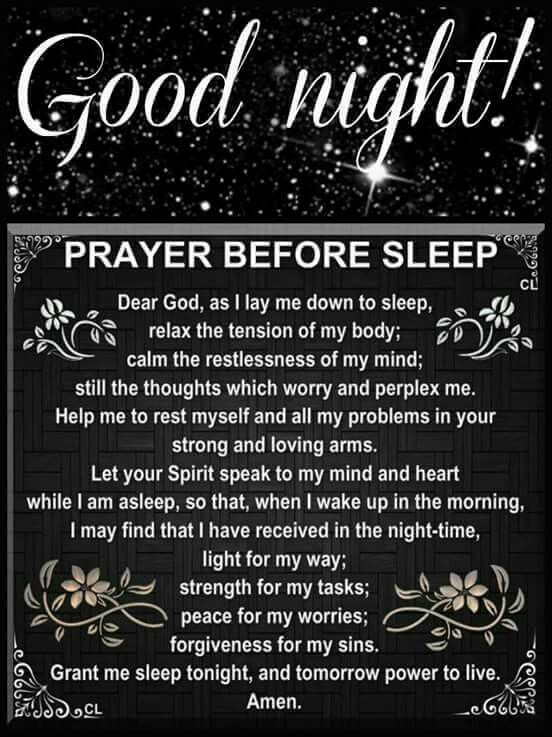 Good Night Prayer | Daily Inspiration | Night prayer, Good night