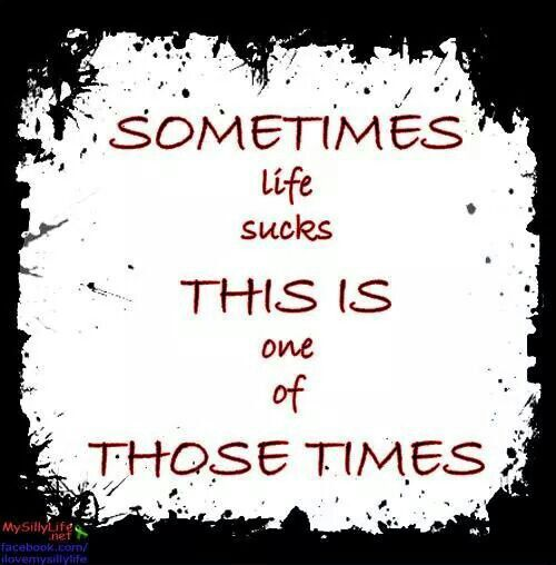 Life Sucks Quotes Prepossessing Sometimes Life Sucks  Quotes  Pinterest
