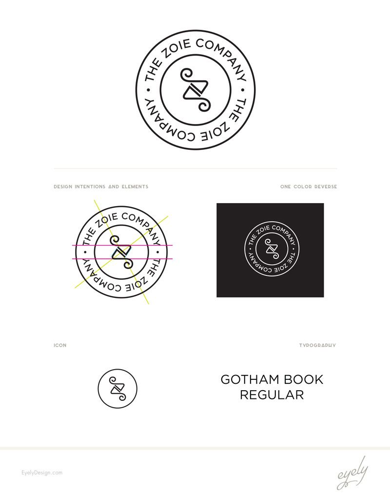 The Zoie Company Organic And Natural Product Logo Eyely Design Design Wellness Design Wordpress Website Design