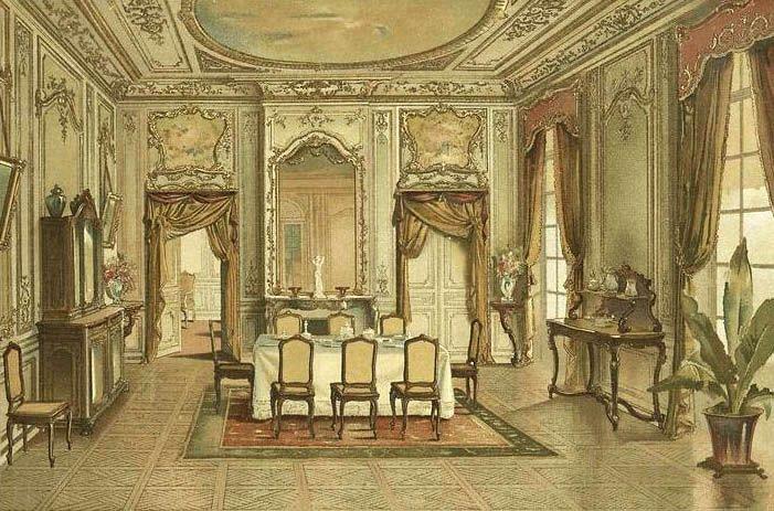 Georges r mon d corateur planches couleur salle manger style louis xv vers 1900 for Salle a manger louis xv