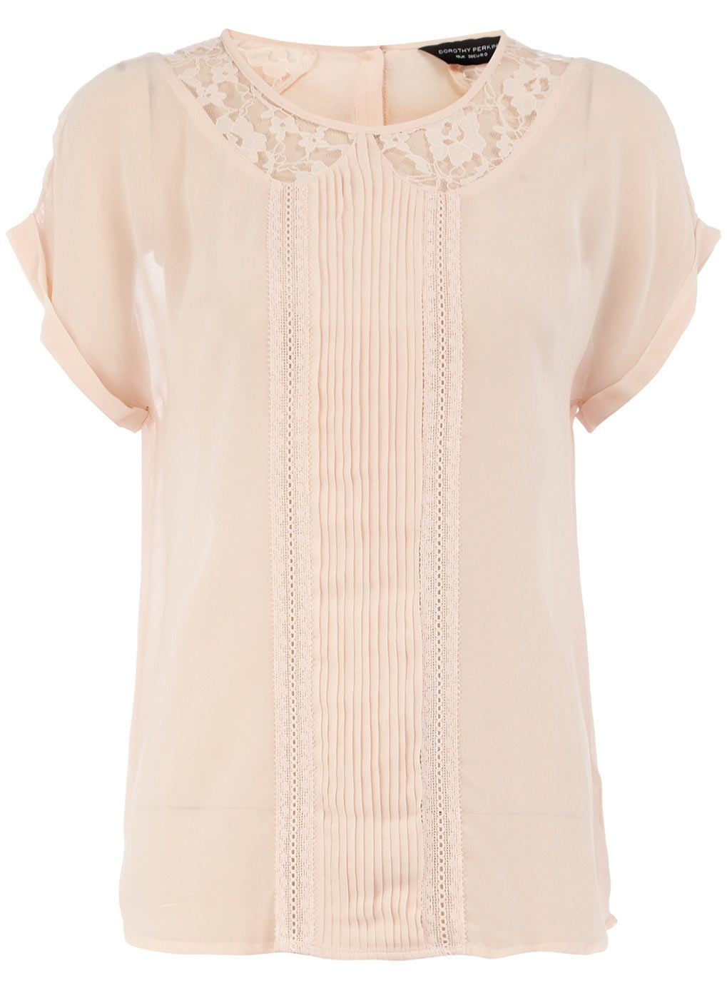 fcf640171cb9b8 Blush lace collar top - Dorothy Perkins | to wear | Tops, Lace ...