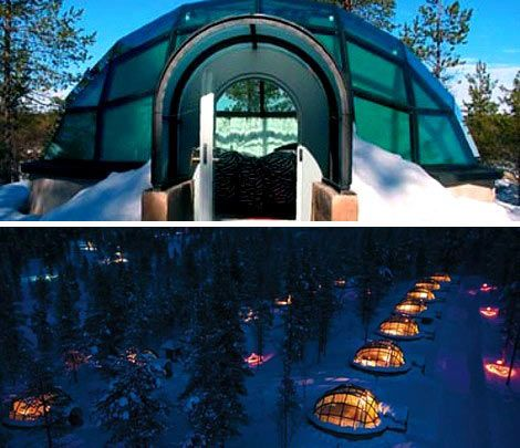 Hotel Kakslauttanen, Finland - Saariselkä area of Lapland near Urho Kekkonen National Park