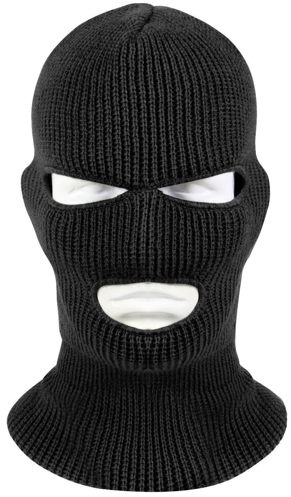 3 Hole Face Mask Ski Mask Winter Cap Balaclava Hood Army Tactical ...