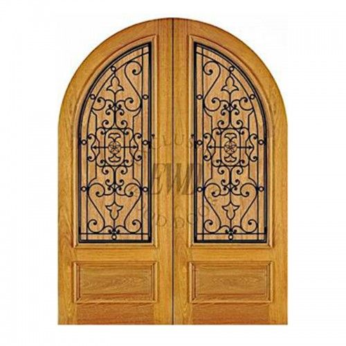 Wrought Iron Exclusive Wood Doors With Images Wrought Iron