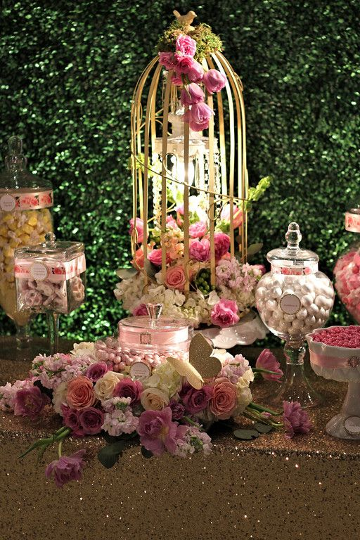Trang And Daniel Dressydesigns Candy Station Wedding Boxwood Backdrop Rustic Candy Buffet